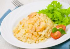 Risotto with fish Stock Photos