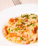 Risotto with fish Royalty Free Stock Photography