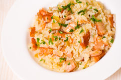 Risotto with fish Royalty Free Stock Images