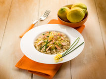 Risotto with fresh salmon Stock Photo