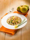 Risotto with fresh salmon Royalty Free Stock Image