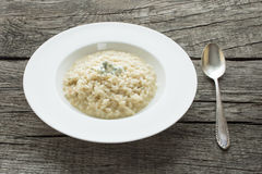 Risotto with gorgonzola cheese Royalty Free Stock Photography