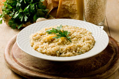 Risotto with Grana Parmesan Cheese Stock Photography