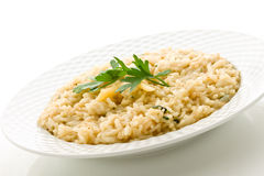 Risotto with Grana Parmesan Cheese Stock Photo