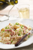 Risotto with ham and chestnuts Royalty Free Stock Photography