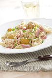 Risotto with ham and chestnuts Royalty Free Stock Images
