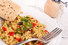 Risotto italiano saboroso do cogumelo Imagem de Stock