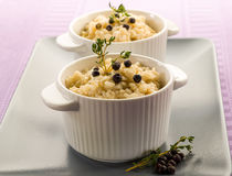 Risotto with juniper and thyme Royalty Free Stock Photo