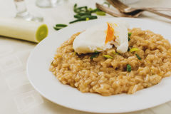 Risotto with leek Stock Images