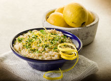 Risotto with lemon and parsley Stock Photo