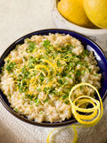 Risotto with lemon and parsley Royalty Free Stock Image