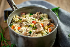 Risotto with meat and vegetable Royalty Free Stock Photo
