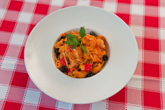 Risotto med oliv och seafood1 Royaltyfri Bild