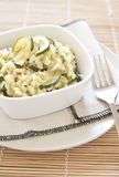 Risotto met courgette stock foto