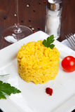 Risotto met saffraan, risottoalla milanese Stock Afbeeldingen