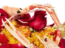 Risotto met zeevruchten Royalty-vrije Stock Afbeeldingen