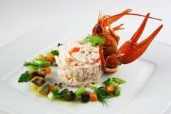 Risotto mit Krabbe Stockbilder