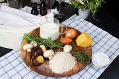 Risotto mit Pilzen lizenzfreies stockfoto