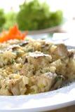 Risotto mit Salat Lizenzfreie Stockbilder