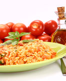 Risotto mit Tomaten Stockfotos