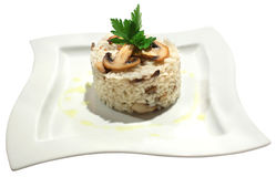 Risotto with mushrooms and parsley Royalty Free Stock Photos