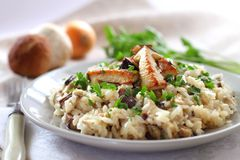 Risotto with mushrooms Stock Photo
