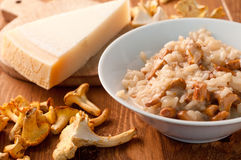 Risotto with mushrooms Stock Images