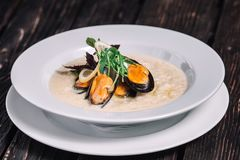 Risotto with mussels Stock Photography