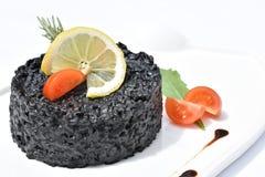 Risotto negro con los mariscos Jibias fotos de archivo libres de regalías
