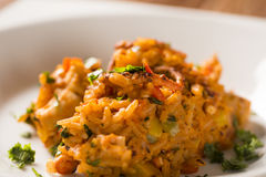 Risotto with octopus - Traditional Italian recipe Royalty Free Stock Photography