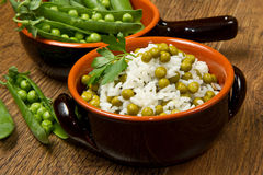 Risotto with peas Royalty Free Stock Photo