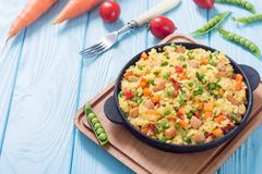 Risotto with peas Royalty Free Stock Photos