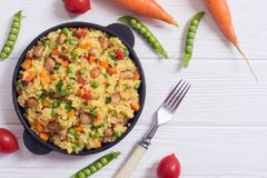 Risotto with peas Royalty Free Stock Image