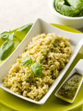 Risotto with pesto sauce Stock Images