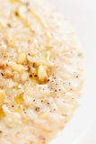 Risotto with pine nuts, extreme close-up shot Royalty Free Stock Images