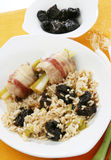 Risotto with plums Stock Images