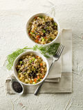 Risotto with poppy seed Stock Photos