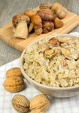 Risotto with porcini mushrooms Stock Photos