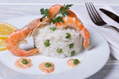 Risotto with prawns Stock Photography
