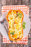 Risotto in pumpkin bowl Royalty Free Stock Photos