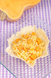 Risotto with pumpkin in a cheese basket Stock Photos