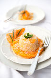 Risotto with pumpkin cream Royalty Free Stock Image