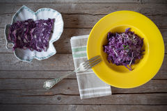 Risotto With Red Cabbage Royalty Free Stock Image