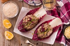 Risotto with red radicchio. stock photography