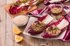 Risotto with red radicchio. royalty free stock image