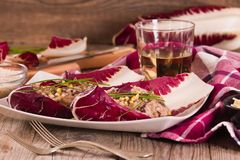 Risotto with red radicchio. stock photos