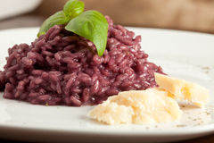 Risotto with Red Wine Stock Images