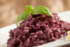 Risotto with Red Wine Stock Photography