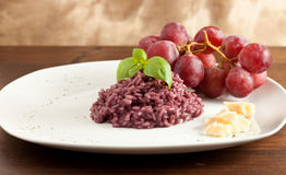 Risotto with Red Wine Royalty Free Stock Image