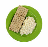 Risotto Rice Cheese Sauce Crispbread Royalty Free Stock Image